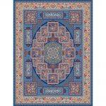Lobat orientalisk matta - blå