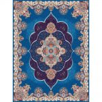 Panez orientalisk matta - ljusblå