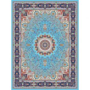 Khatoon orientalisk matta - ljusblå