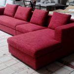 Linnea 4-sits divansoffa höger i röd tyg