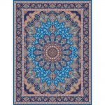 Azarakhesh orientalisk matta - ljusblå