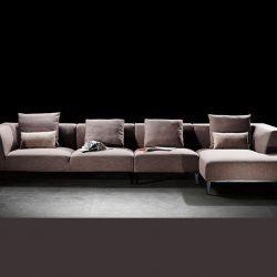 Roxanna L-soffa 3-sits i tyg - höger