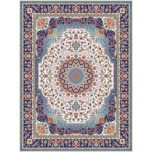 Saghar orientalisk matta - gräddvit