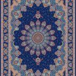 Azarakhesh persisk matta - Mörkblå
