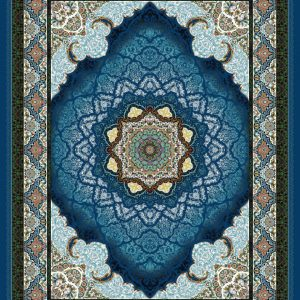 Sadaff persisk matta - Mörkblå