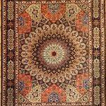 Gonbad Tabriz handknuten persisk matta