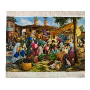 Persisk Handknuten Silkesmatta 109x69 (Signatur Bazar Shamal)