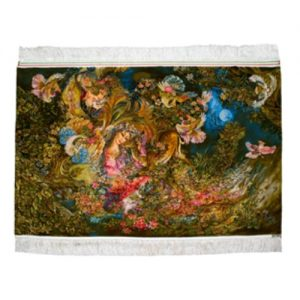 Persisk Handknuten Silkesmatta 132x82 (Signatur Daira Hasti)