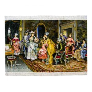 Persisk Handknuten Silkesmatta 156x102 (Signatur Horosy Majal)